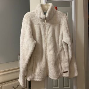 sherpa jacket, pearl color